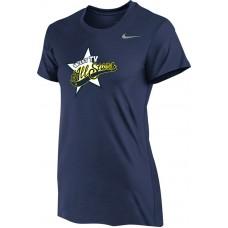 West TV 12: Nike Women's Legend Short-Sleeve Training Top - Navy Blue