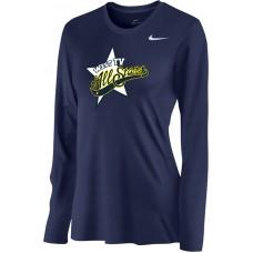 West TV 21: Nike Women's Legend Long-Sleeve Training Top - Navy Blue