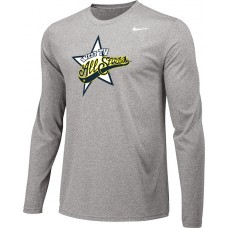 West TV 17: Youth-Size - Nike Team Legend Long-Sleeve Crew T-Shirt - Gray