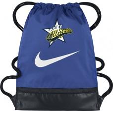 West TV 42: Nike Brasilia Drawstring Backpack/Gym Sack - Blue